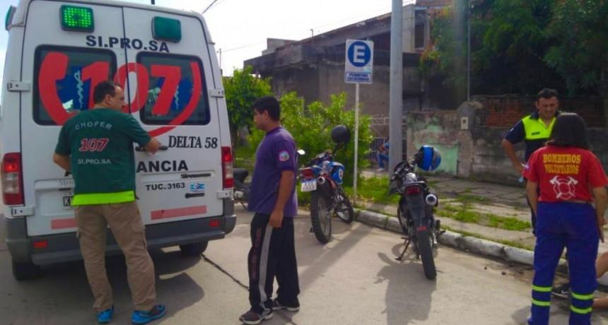 ACCIDENTE POR CALLE BELGRANO EN MONTEROS