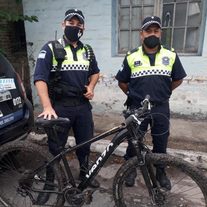 POR UNA LLAMADA ANÓNIMA A LA POLICIA, SE PUDO RECUPERAR LAS BICICLETAS ROBADAS EN MONTEROS
