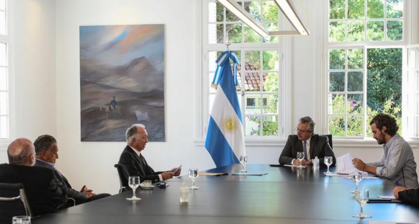 EL PRESIDENTE RECIBIÓ A LA CÁMARA ARGENTINA DE COMERCIO.