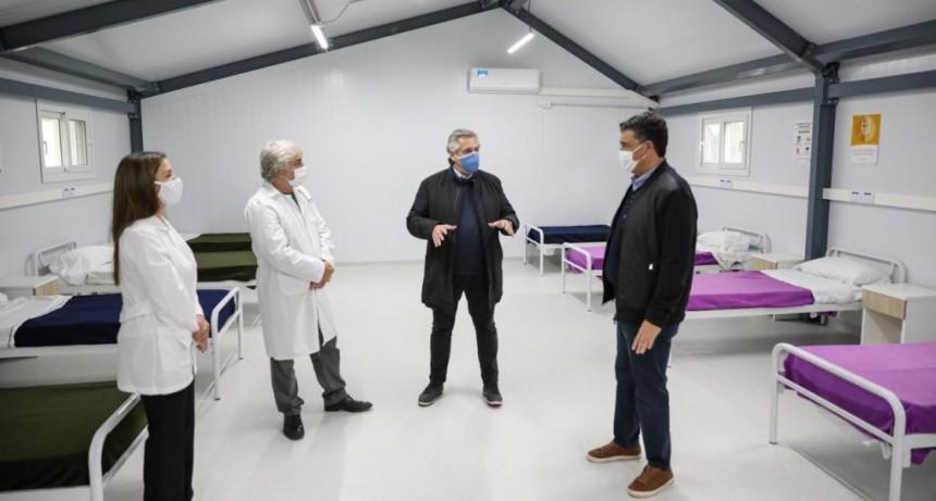 CORONAVIRUS: EL PRESIDENTE VISITÓ UN HOSPITAL DE CAMPAÑA EN VICENTE LÓPEZ
