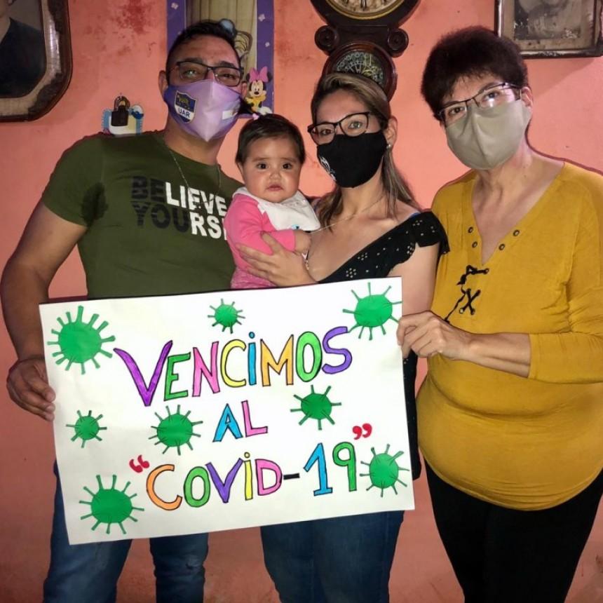 UNA FAMILIA DE TRABAJADORES DE LA SALUD VENCIO AL COVID-19 EN MONTEROS