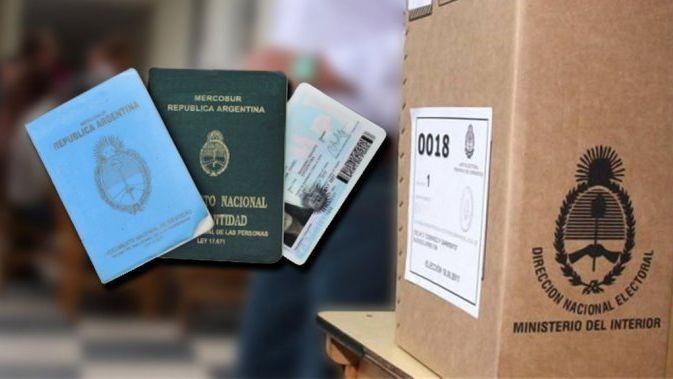 Documentos validos para votar el domingo