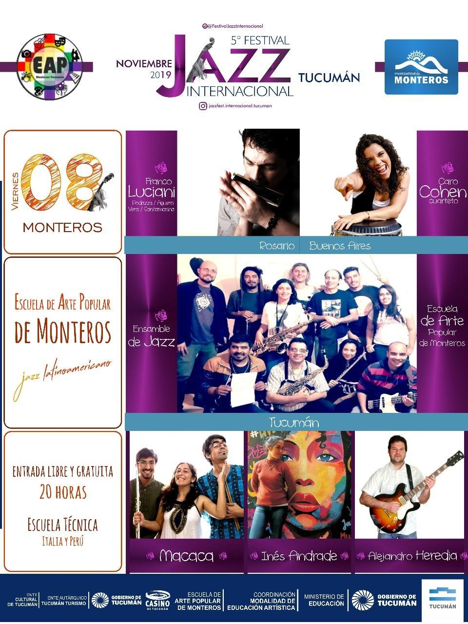 Festival Internacional de Jazz en la Escuela de Arte Popular