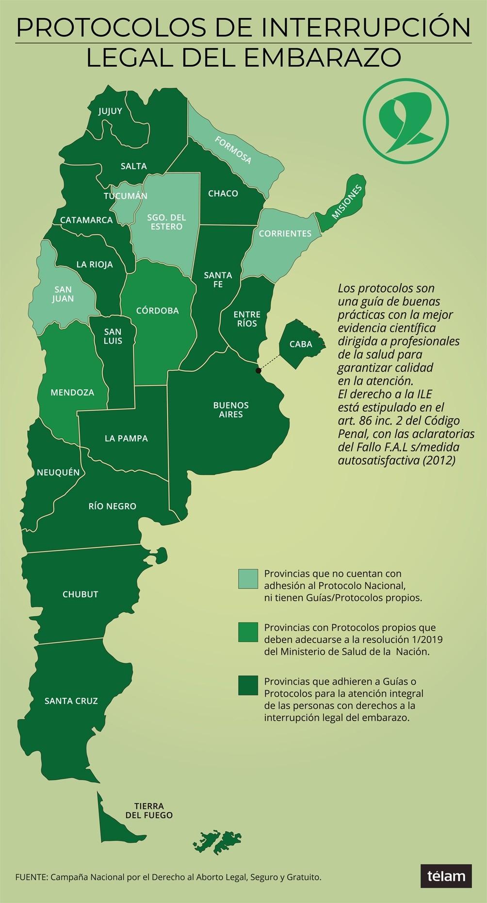 CINCO PROVINCIAS NO CUENTAN CON PROTOCOLO PARA GARANTIZAR ABORTOS NO PUNIBLES