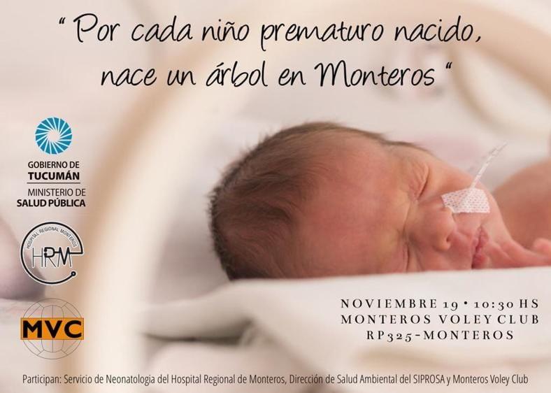 MONTEROS VÓLEY CLUB SERÁ PARTICIPE DE LA SEMANA DEL NIÑO PREMATURO