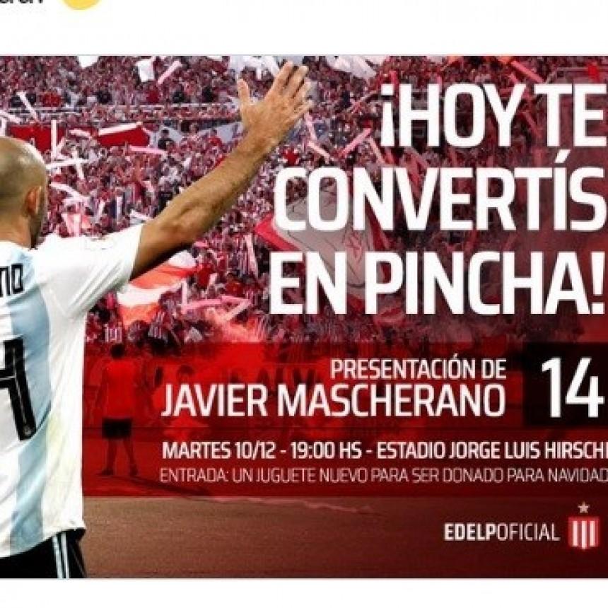 Mascherano será presentado el martes en Estudiantes